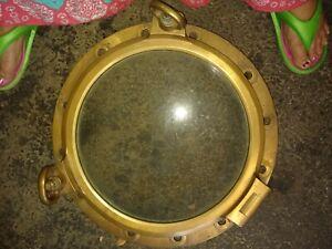 21 inch Heavy Duty Brass vintage Nautical Porthole glass windowNaval