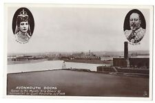 AVONMOUTH DOCKS Opened by King Edward VII, RP Postcard by Tuck, Unused