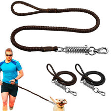 3ft/4ft /Heavy Duty Braided Leather Dog Leash Medium Large Tracking Lead Rope