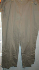 CASUAL DRESS PANTS FROM DRESS BARN WOMAN-OLIVE/BROWN-LADIES 22W-NEW WITH TAGS