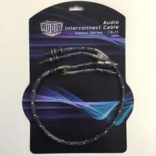 1.5 piedi RCA phono lead audio cavo di interconnessione stereo auto AMPLIFICATORE AUTO / HOME 66000