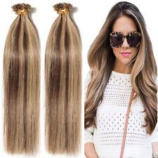 Grade AAA+ U Tip Nail Remy Human Hair Extensions Pre-bonded Fusion Keratin P937