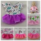 UNICORN, MERMAID & FLAMINGO DRESSES FITS MY FIRST BABY ANNABELL DOLL