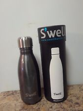Swell Vacuum Insulated Stainless Steel Water Bottle, Double Wall, 9 oz, Smoke