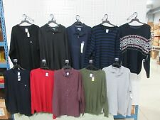 10 MENS CLOTHES XL DRESS SHIRT GOLF SWEATER BASIC EDITIONS COLLAR OUTFITS NEW