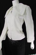 Giorgio Armani GA Women Cream Jacket Dressy Fashion Linen Coat Oversize 48/14