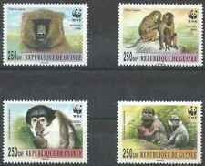 Timbres Animaux Primates Singes Guinée ** année 2000 lot 26765