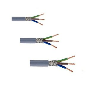 Stromkabel Netzkabel Geschirmt CY 3G1.0 / 3G1.5 / 3G2.5 - Meterware TOP QUALITÄT