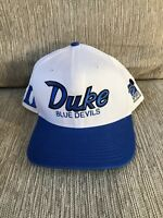 Vintage Sports Specialities Duke Blue Devils Snapback Spellout Hat GUC