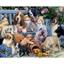 Lovely Dogs DIY 5D Full Diamond Painting Embroidery Cross Stitch Kit Craft