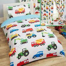 camions et transport Cars Set Housse de couette simple + rideaux assortis 183cm