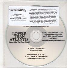 (GX774) Lower Than Atlantis, Beech Like The Tree - 2011 DJ CD