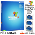 Windows XP Professional SP3 Install Disc + Genuine Licence Key + Driver DVD Pack