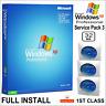 WINDOWS XP PROFESSIONAL SP3 - 32BIT FULL INSTALL DVD - LICENCE KEY & DRIVER PACK