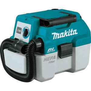 Makita XCV11Z 18 Volt 2 Gallon Brushless Wet/Dry Dust Extractor/Vacuum,Bare Tool