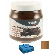 TRG GRISON MED BROWN LEATHER DYE COLOUR RESTORER RESTORATION CREAM BALM