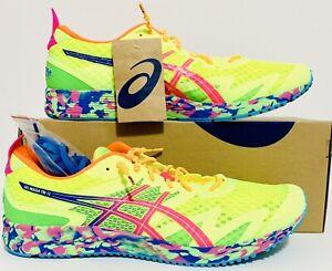Asics Men Gel-Noosa Tri 12 Shoes Sz(13) Safety-Yellow/H.Pink 1011A673-750 NIB