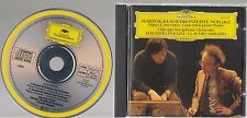 Pollini/Abbado BARTOK Concertos 1 & 2 DG 415 371-2 W.Germany Full Silver No IFPI