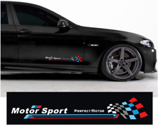 BMW 2pcs M Performance Car Side Décoration Autocollant Blanc élégant PVC