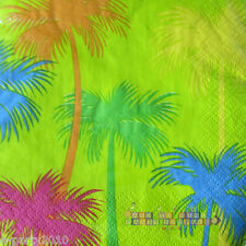 HAWAIIAN LUAU Hot Tropics SMALL NAPKINS (12) ~ Summer Birthday Party Supplies