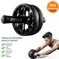 Ab Roller Exercise Dual Wheel Home Gym Abdominal Core Fitness Workout Equipment
