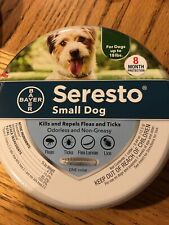 New Seresto Flea and Tick Collar for Small Dog 8 Month Protection
