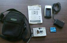 Canon PowerShot Digital ELPH S300 2.0 MP Camera Metal case charger manual card
