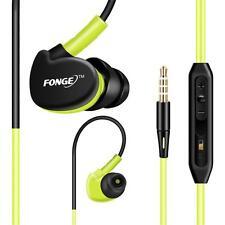3.5mm Stero Headset In Ear Earbud Sport Waterproof Bass Earphone W/Mic