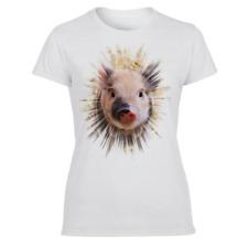 TV Schwein Muppet Show Miss Piggy Frauen T-Shirt Heldin pink- LOGOSHIRT
