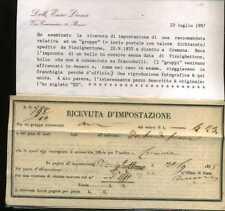 Lombardo Veneto H 777 Pizzighettone Cremona ricevuta di impostazione
