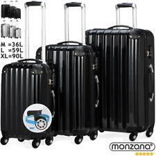 Monzana® Reisekoffer Koffer Trolley Set Hartschalenkoffer Kofferset 360°Rollen