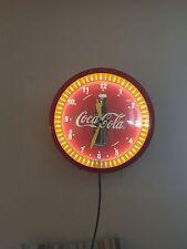 Coca Cola Neon Clock Spinner Soda Sign Advertising