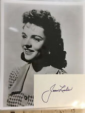 Joan Leslie signed 3x5 with photograph