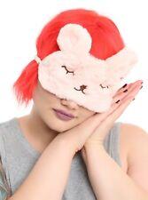 Bunny Sleep Mask Cute Eye Mask Pink One Size New