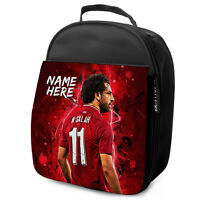 SALAH Lunch Bag Liverpool School Insulated Boys Football Personalised NL12