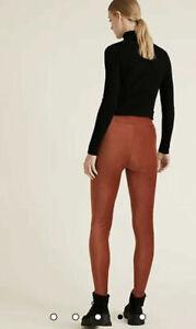 "B6 M&S Collection Copper Tan Cord High Rise Leggings Regular Leg 29"""