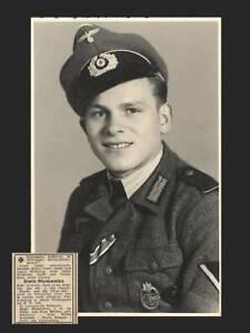 AK, Soldat in Uniform, Todesanzeige, Portrait, WK2