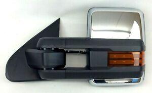 Chevrolet Silverado LH Driver Side View Mirror Trailer Tow power folding chrome