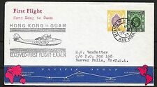 Hong Kong covers 1937 1st Flight cover to Guam