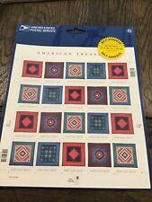 Amish Quilts American Treasures 34C US stamps Full Pane 20 NIP
