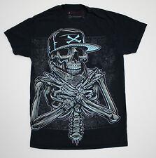 Tony Hawk Mens T-Shirt Black Skeleton Bone Graphic Tee 100% Cotton Small