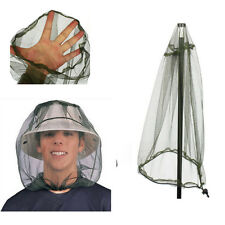 Mosquito Net Protector Face Midge Hat Mesh Insect Travel Bug Head Camping NEW
