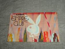 rare Playboy Empire Club Key Card illus w New York City skyline & Bunny 1985 VG+