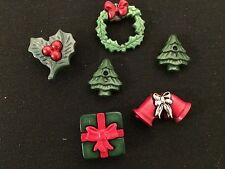 Holiday Magnets / Set of Six Christmas Magnets