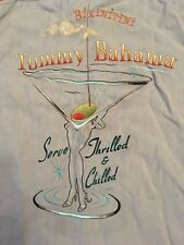 Tommy Bahama Embroidered Bikinitin blue Served Thrilled Chilled  Shirt size  m