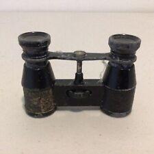 Vintage/Antique Miniature Opera Black Metal Binoculars #622