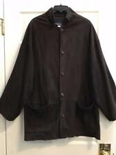 Eskandar Size 2 1x 2x  Chocolate Suede Leather B/D Jacket Shirt $2690
