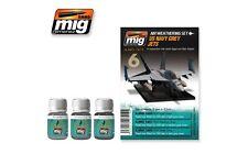 AMMO OF MIG A.MIG-7419 Wash Set Kit US Navy Grey Jets 3x35ml