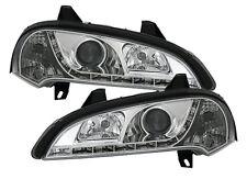Chrome headlight set for Opel Tigra 94-00 with LED DRL daytime running lights