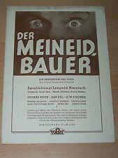 DER MEINEIDBAUER - Werberatschlag ´41 - O.W. FISCHER Eduard Köck